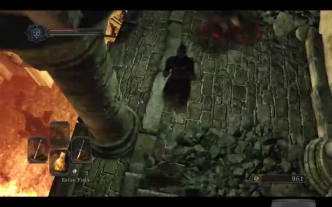 Death from Above. .. I wish there were more enemies you can plunge onto like that. Ds3 had 1 enemy in the dlc. Ds2 had a few. Ds1 had alot...