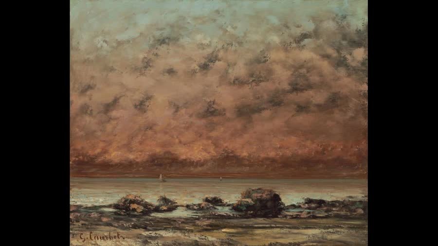 Embrace the trashy times. charlie toØ human - The true meaning to life The Black Rocks at Trouville painted by Gustave Courbet These might be dark times for you