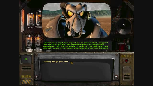 The best character in Fallout. SERGEANT ARCH DORNAN.. I hope if they ever add more characters they add Sergeant Dornan.