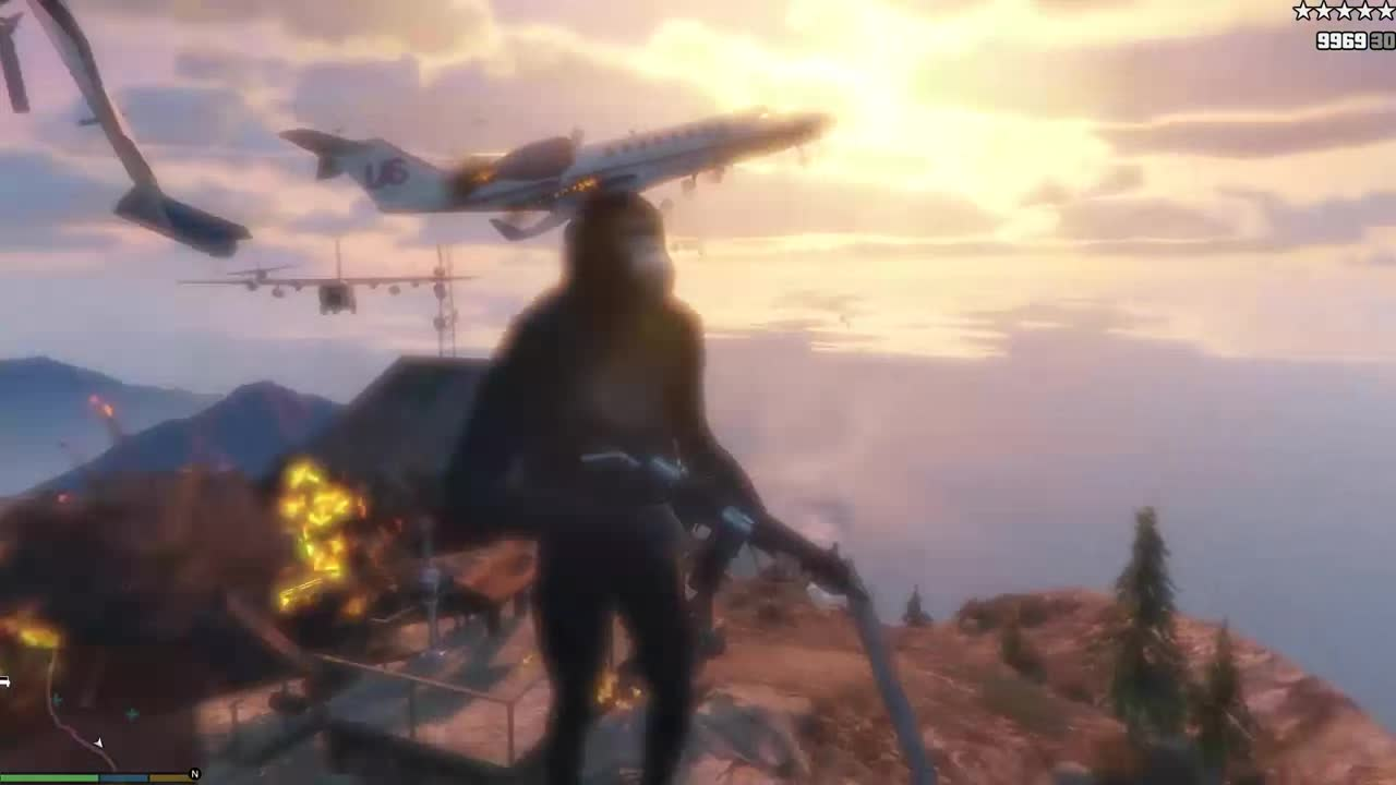 Twilight of the Planet of the Apes. Directed by Michael Bay-rton... this is some nice next-gen HD franklin footage