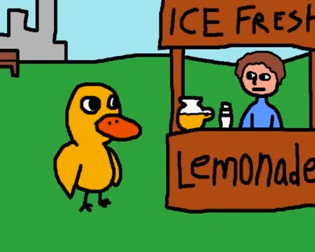 The lemonade duck. .