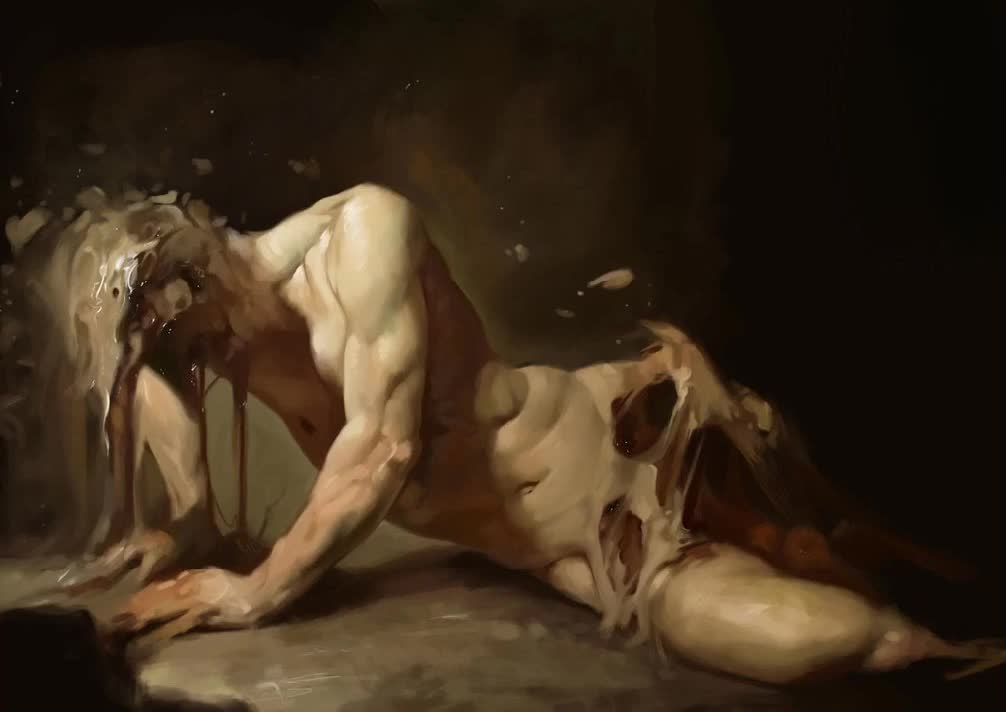 Trash ASMR to take you away. Aso - Dreamer The painting was created by Roberto Ferri. I recommend that you treat yourself to looking at some of his art but be c