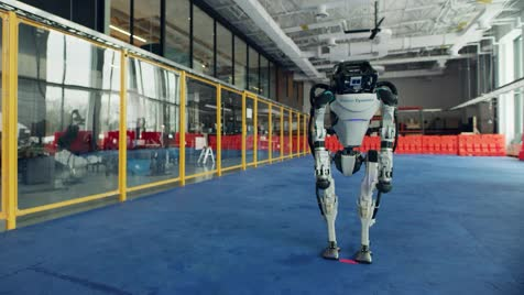 I love Boston Dynamics. They have came quite a long way from the 2011 petman walk. (see below) .. We're one step closer to remote-controlled robot soldiers being fielded.
