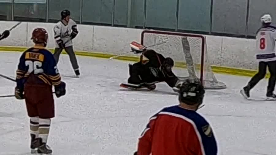 New digs!!!. Let me know what you think!!!.. If you train hard enough, some day you might get as good as Finnish goalies.