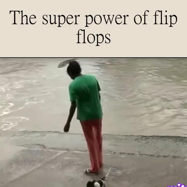 ten unwieldy Bison. .. Flip flops > Crocs
