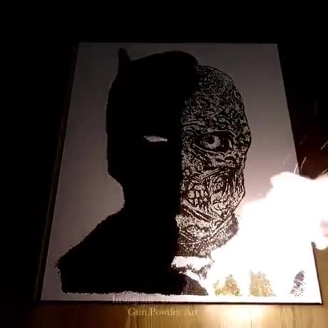 Two Face. .. last thing harvey dent needed is to get his face lit on fire a second time.