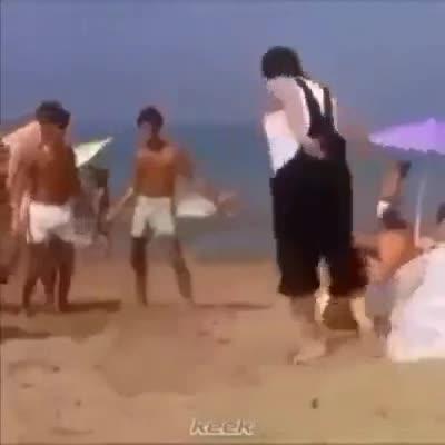 Fun at the beach. .