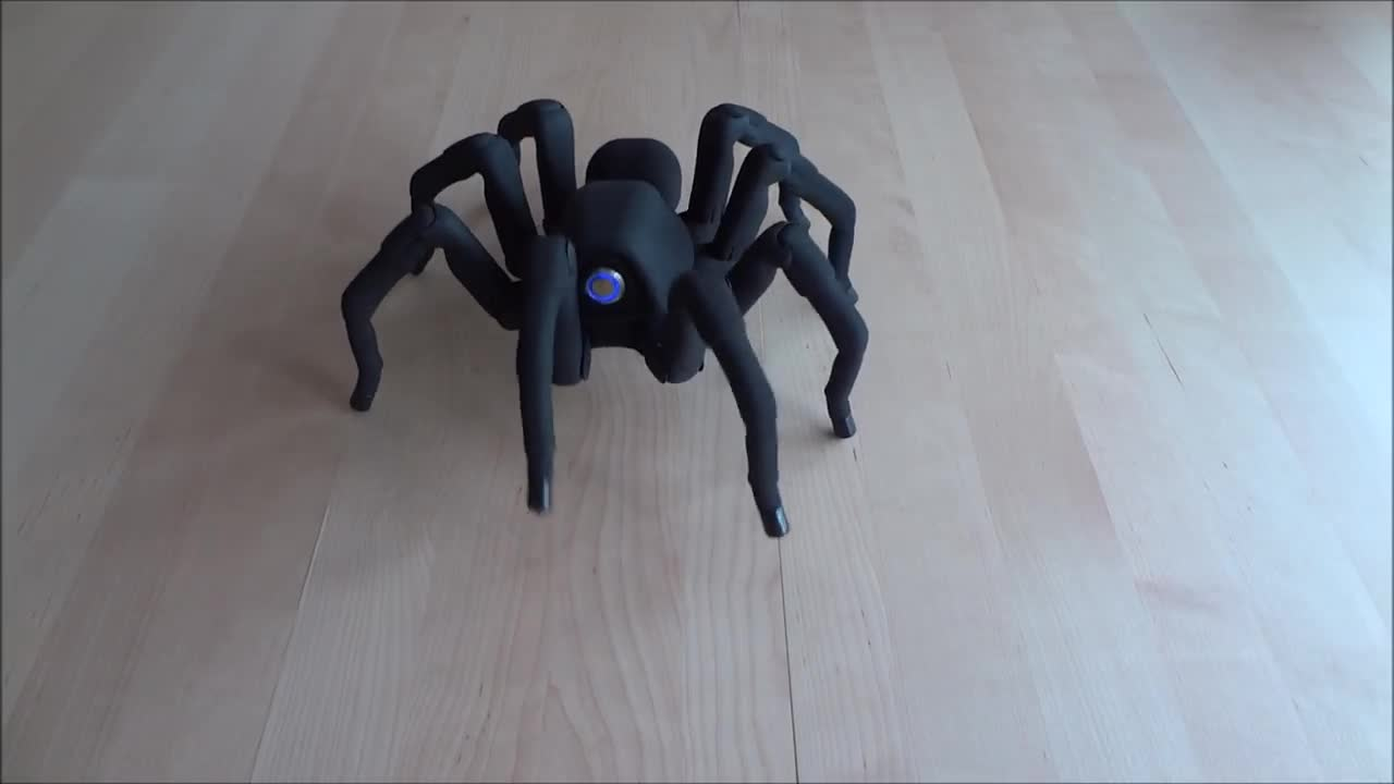 T8 3D Printed Octoped Robot. .. you can make it dance as cutely as you want, I'm still gonna want to shoot it