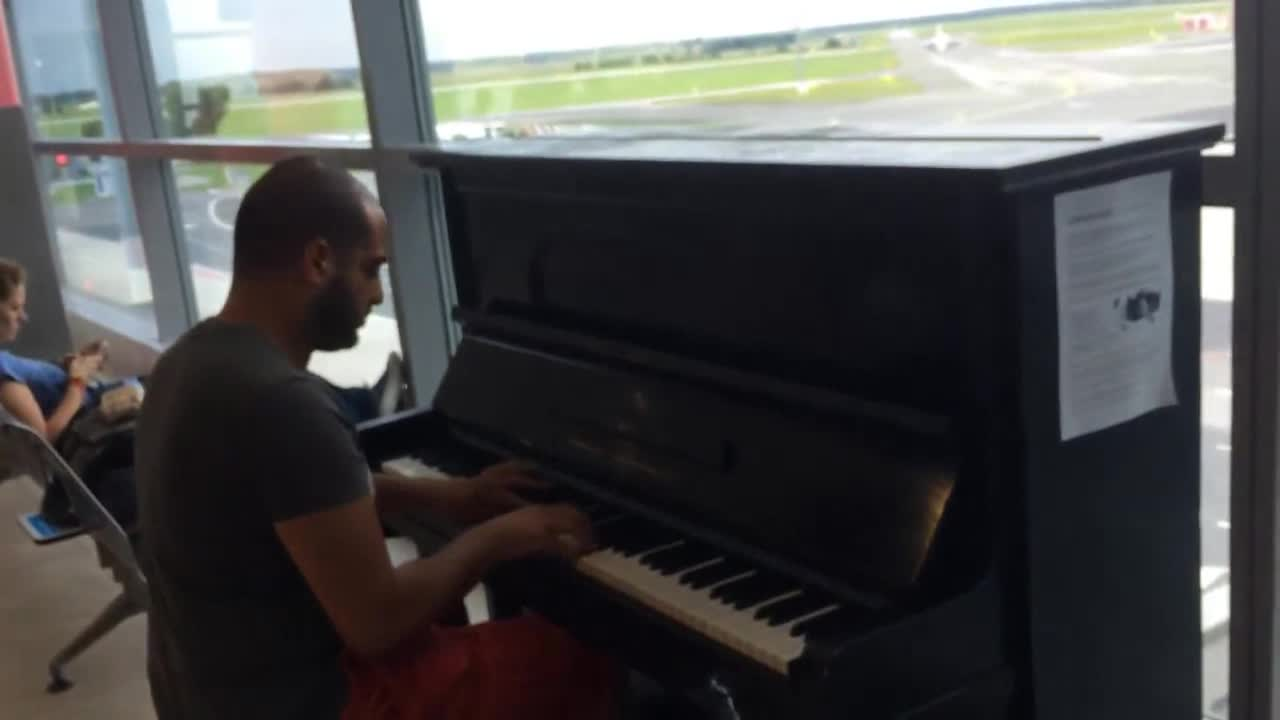 Fur Elise in different styles. Maan Hamadeh plays a public piano while he waits for his plane at the Prague Airport in the Czech Republic... I have perfect pitch. I can hear how out of tune this piano is. And it is slowly but surely driving me completely insane as this video goes on. ... CHRIST JUST