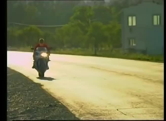 Kawasaki. funny motorcycle man go vroom.
