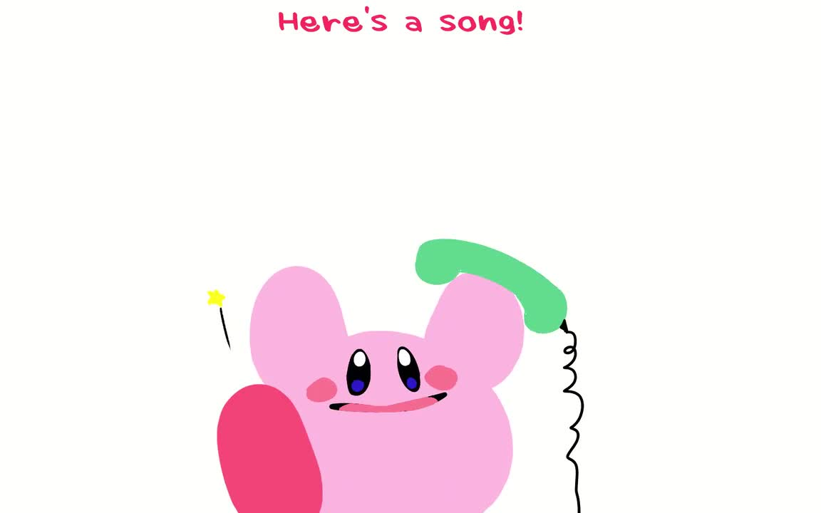Kirby on the phone. Saws:.. this wasn't worth the effort