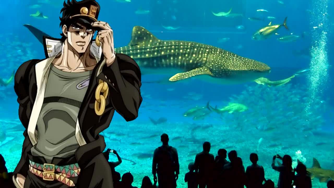 """The Jotaros Go To The Aquarium. .. """"so you were basically fugo for most of your part?"""""""