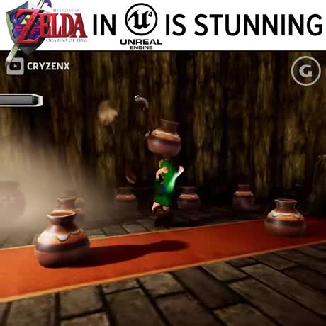 The Legend of Zelda: Ocarina of Time. .. unreal engine is a engine for a zelda game. Having extensive amounts of lighting does not make look good and this entire fan remake looks like . every time the