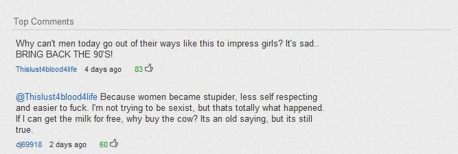 Got Owned. Love it when someone is reminded of the truth dont you?. Top Comments Why can' t men today go out of their ways like this to impress girls? It' s sad