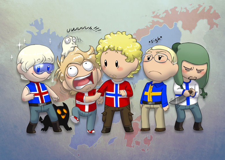 yea Scandinavia. All credit goes to satwcomics! I simply uploaded the picture here Go check out their comics at satwcomic.com.. They're funnier without trousers.
