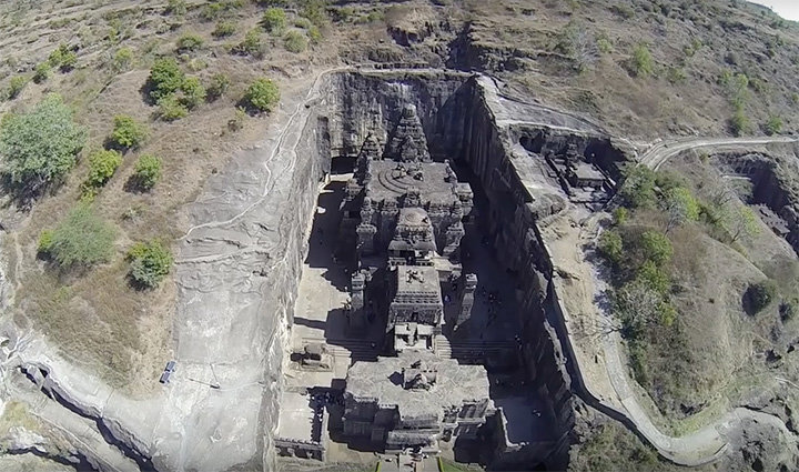 1200 year-old hindu temple carved out of. .. Carved out of.... What? Cabbages? Human flesh? WHAT? I must know!