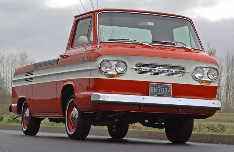 1963 Chevrolet Corvair 95 Rampside picku. .. Now there's a rare truck !