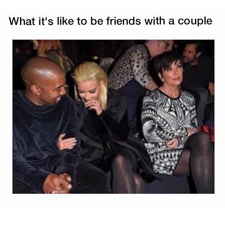 3rd Wheel. . What it' s like to befriends with a couple. This is so much me D: