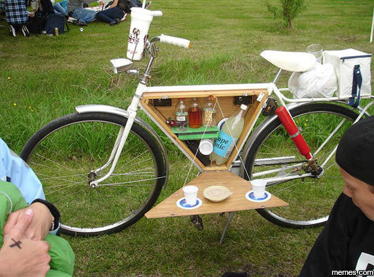 A great idea or the greatest idea ever?. .. when you want to tailgate but you're broke as