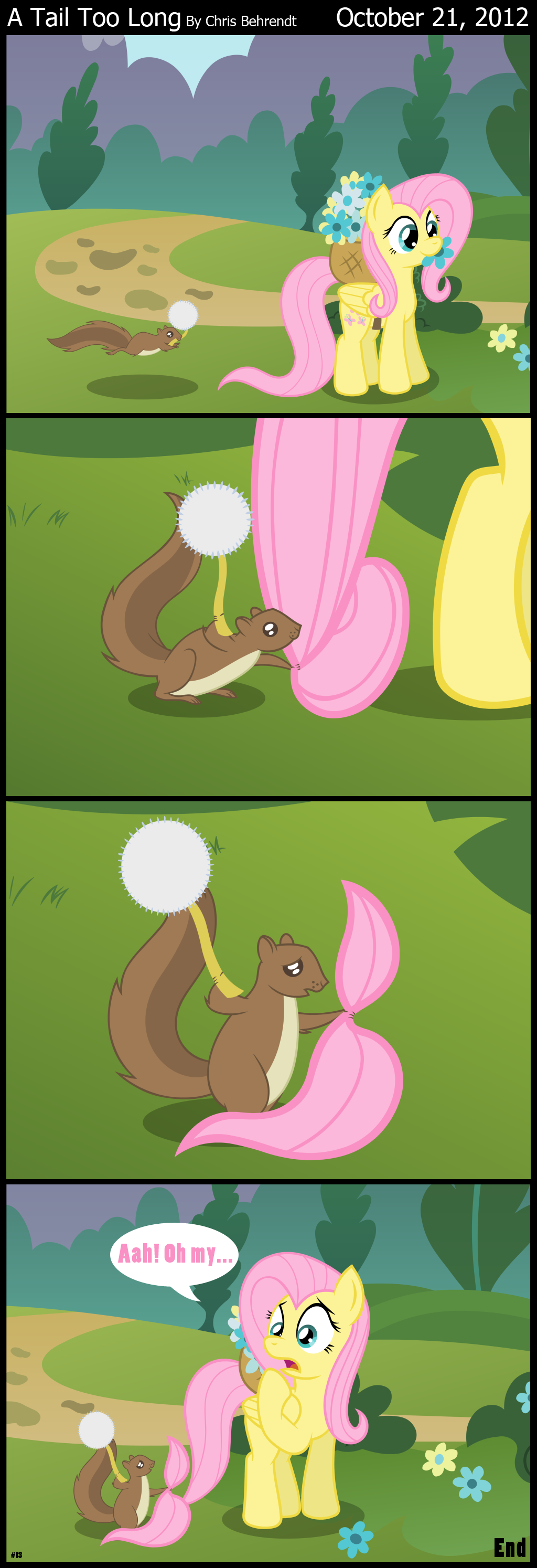 A Tail Too Long. . A Tail Too Long By Chris October 21, 2012. Fluttershy, I did not know that you had mane and tail extensions.