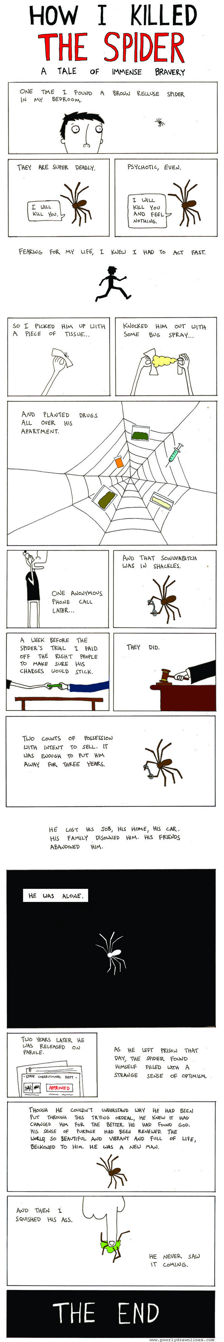A tale of a spider. EDIT: Thanks for all these thumb up's. First post over 20 <br /> 2EDIT: Woah Came online today asking myself if I got some more thumb