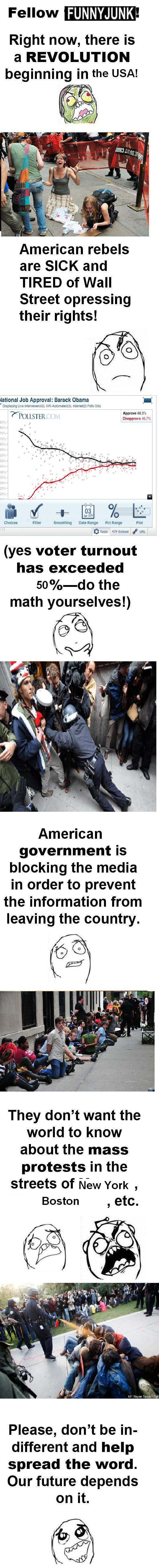 A hand to the USA? (Read Description). This: Was posted a few hours ago. In the pic, OP claims that Russia is experiencing a serious revolution and that the gov