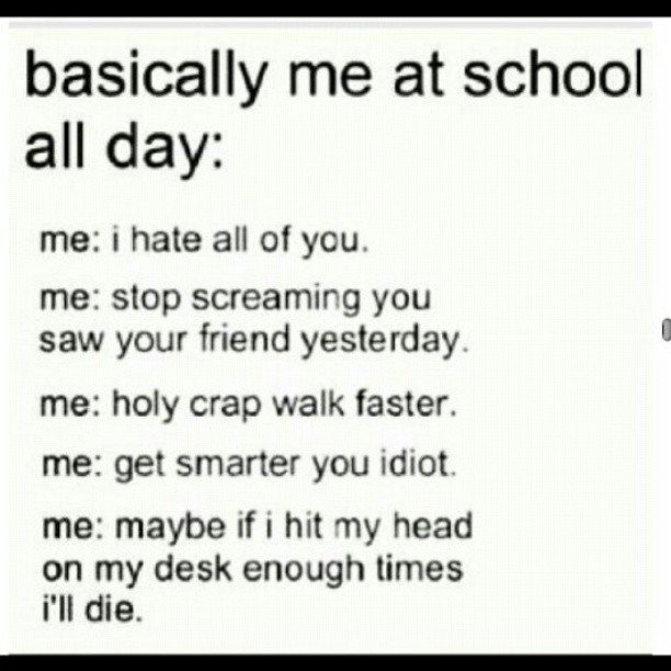 "Accurate.. My day includes the words """", ""beiner"", and """" a looooot more too. P.S. Don't look at tags. You'll lead them on.. basic"