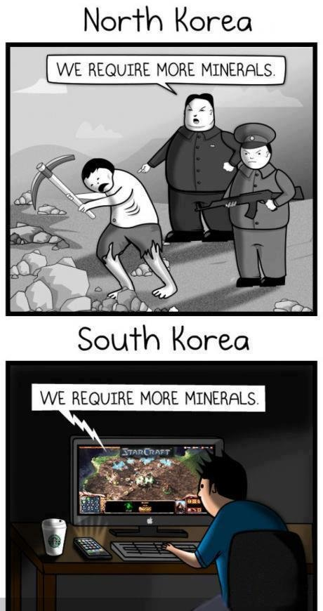 admin land vs south korea. . Nor' Korea. banned, BANNED! posted theoatmeal and removed the watermark. delete this now or face the consequences.