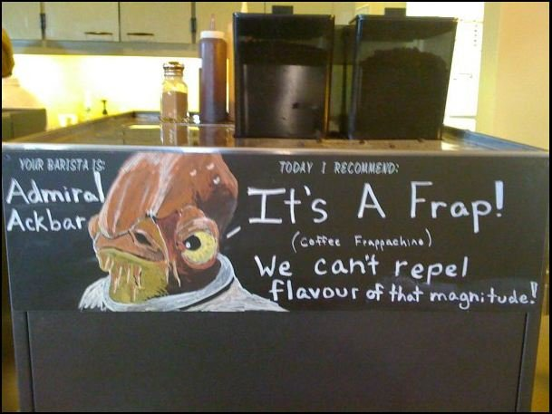 """Admirals Coffee House. . Inabit We Cari) repel .. """"sir theres some internet in my frappachino"""""""