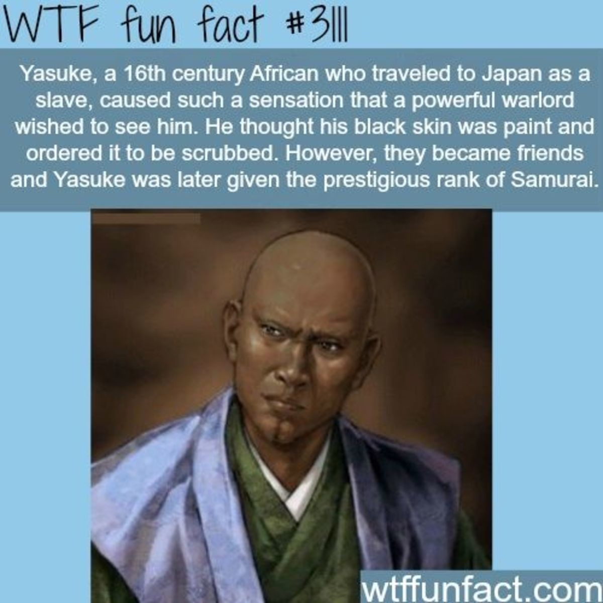 Afro Smaurai. .. He didn't just serve under any warlord, he served under Oda Nobunaga.