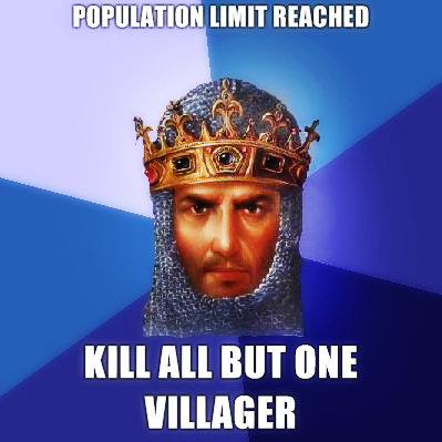 Age of Empires. When your army must grow.. oiih, MT out. I have been looking for this game....all over my house and have found nothing. This game is Awesome.
