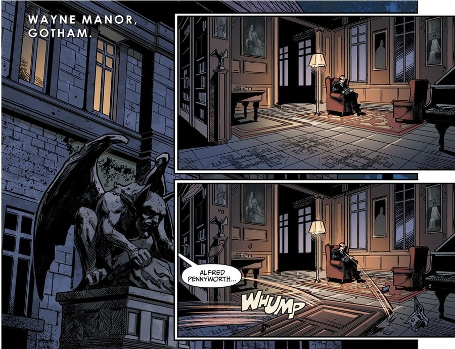 Alfred puts down the Burn. Clark needs a full heal for that.. WAYNE MANOR, GOTHAM.. Five years ago...