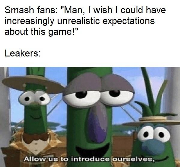 Allow us to. .. Smash fans fw Waluigi isnt in it