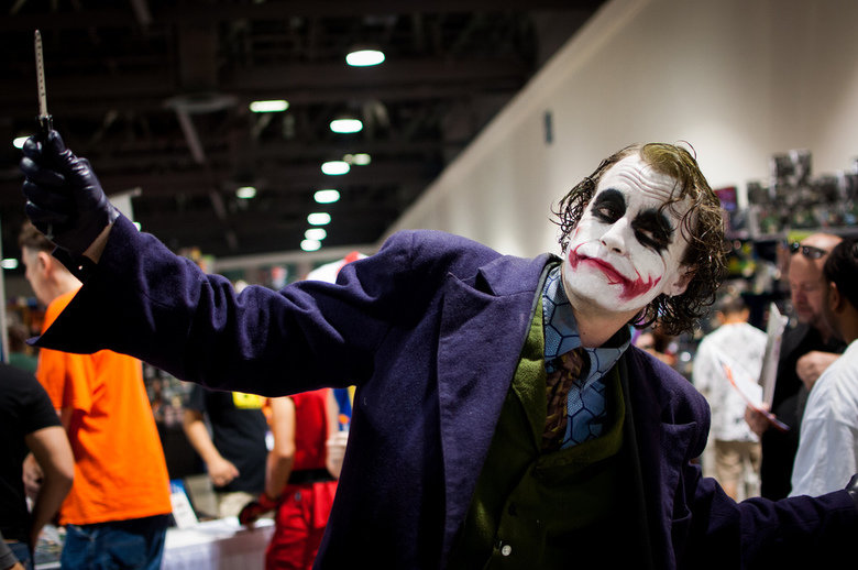 Amazing Heath Ledger Joker cosplay. from Long Beach Comic Con 2012 source: .. That's almost scary how perfect that is...