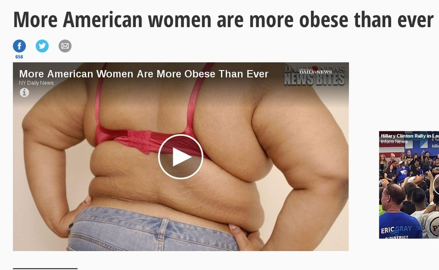 American women fatter than ever. . More American women are more obese than ever More American Women Are More Obese Than Ever . h ' Avs, I If Dailys IAW-. -'3 Hi