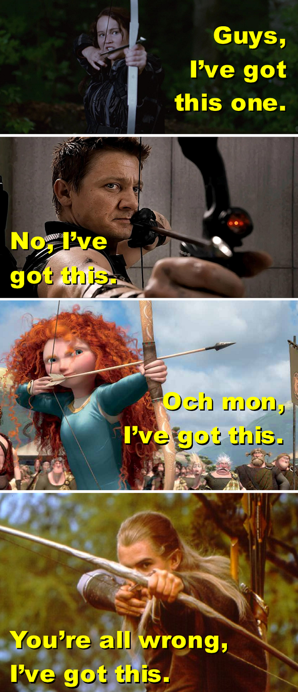 And that's why there is only one archer. .. Somehow the last picture got lost.