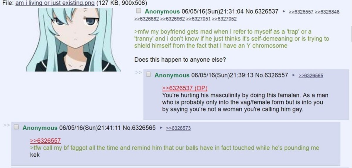 """Anon and his """"gf"""". .. imagine having the imagination to will yourself into the straight lane by denying the fact that your very clearly and definitely having sex with another man slu"""