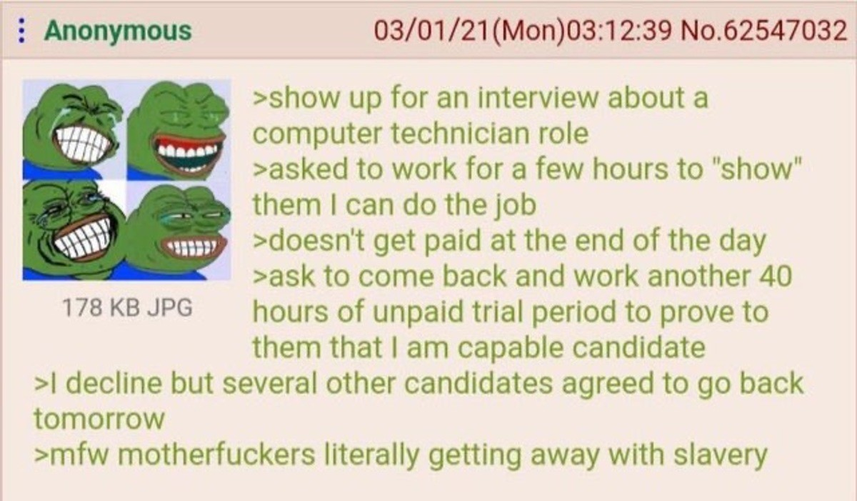 Anon avoids Slavery. .. ,>oh sorry guys, it seems I've wiped the servers and all the backups, well I'll show myself out.