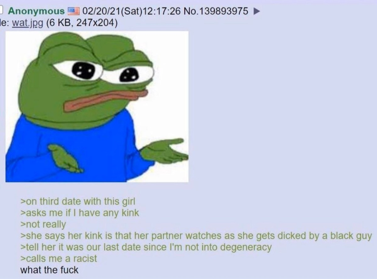 Anon Dates. .. Expecting you to be a cuck