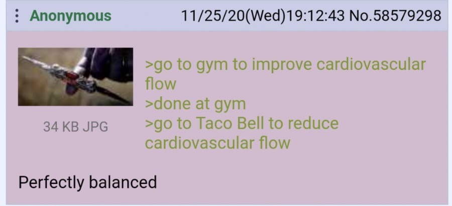 Anon goes to the Gym. .. As long as you eat slowly and don't binge, you should be fine.