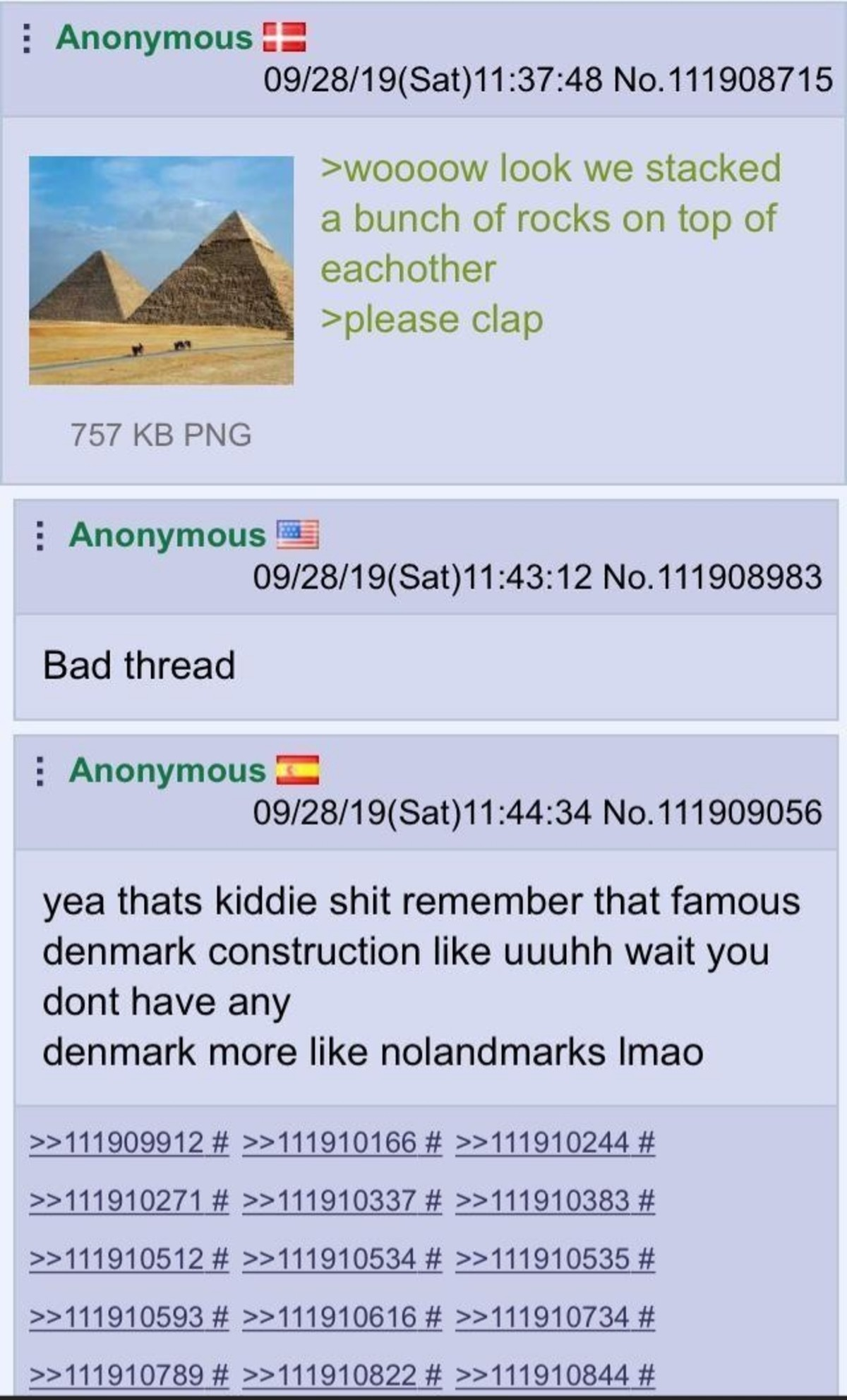 Anon hates Pyramids. .. Scandinavians have only ever been good at burning and raping landmarks