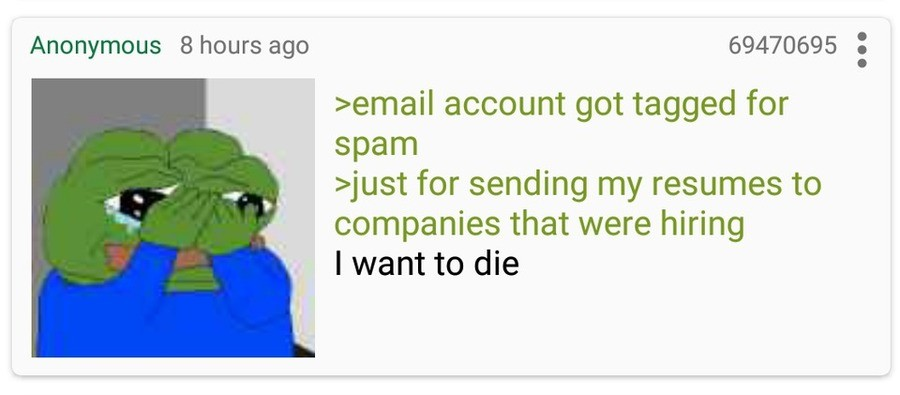 Anon is a Spammee. .. You were addressing the email to the specific companies, right anon? You weren't just sending the same email with 200 recipients, right anon?