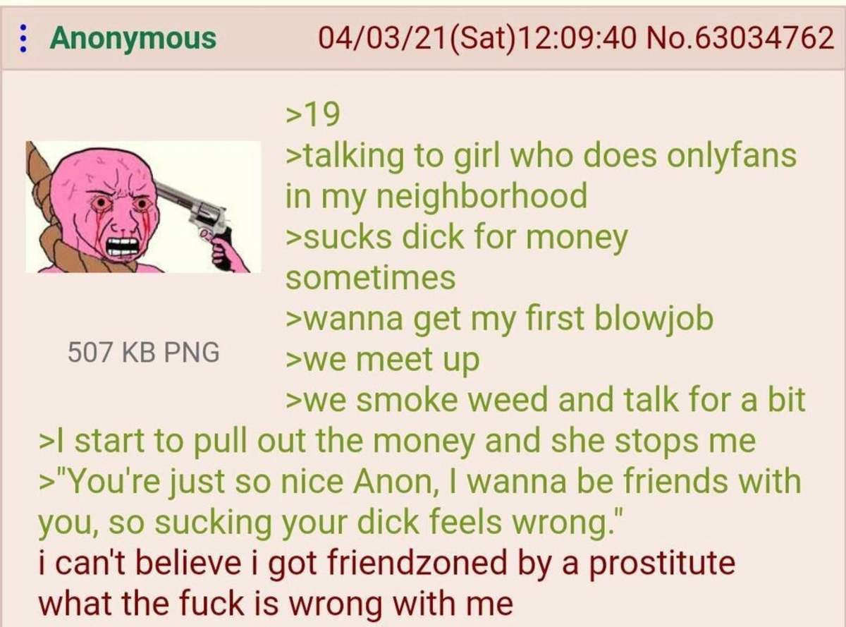 anon meets the friendzone. .. Save yourself from drama and STD's. Lift and live well.