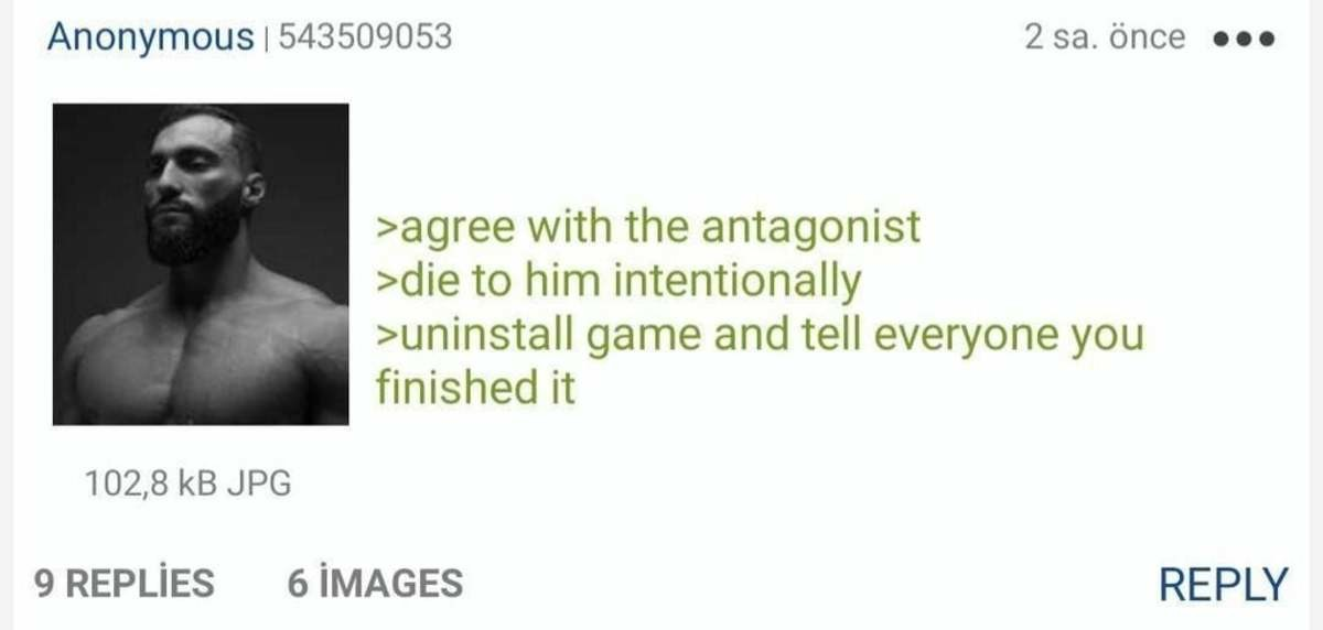 anon redefines speedrunning. .. Playing the Last of Us Part II and getting to the theater as Abby.