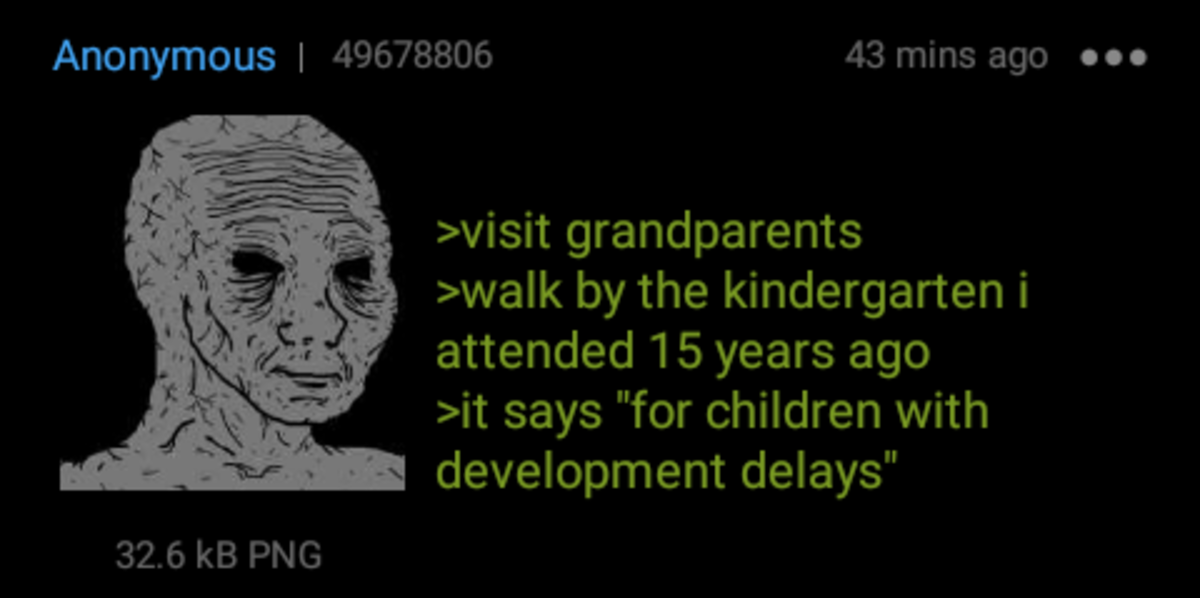 Anon visits Grandparents. .. School I went to as a kid was torn down and rebuilt like 5 times for different . First it was a regular elementary school (My time) Then it was a school for the