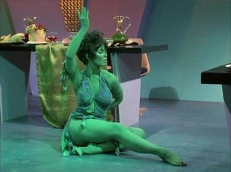 another one bites th dust. yvonne craig, actress most known for playin batgirl in th campy batman tv series, and kirk's 'green chic' in star trek, has passed aw