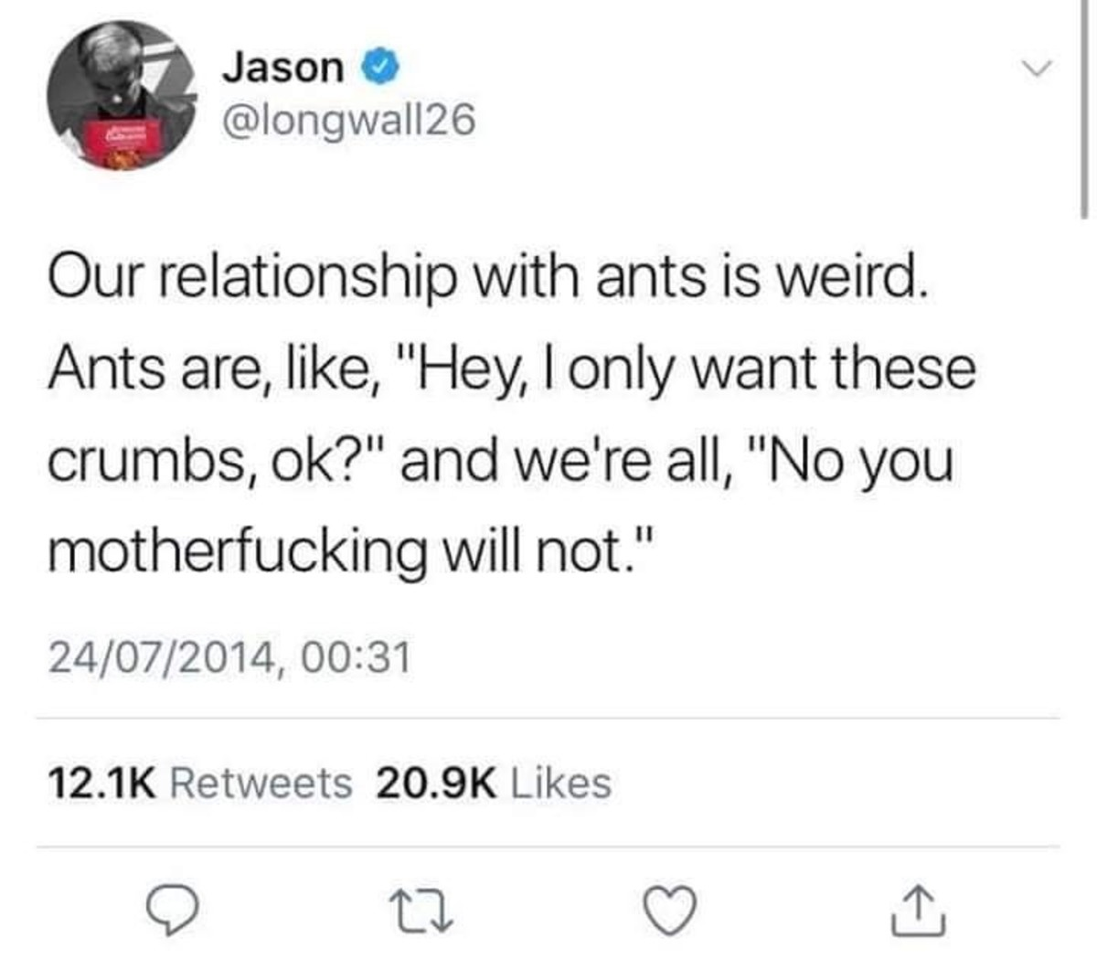 ants. .. it starts with a few
