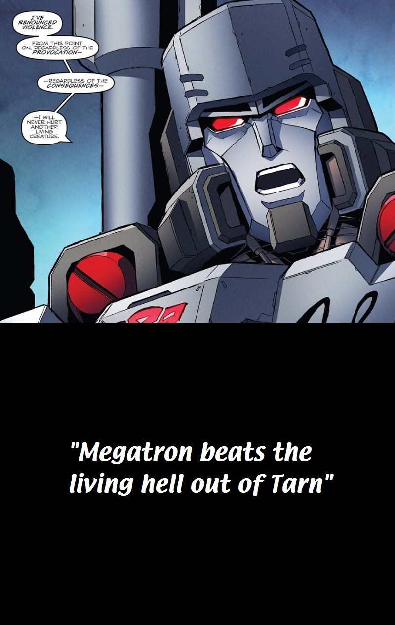 arrogant weakest cuddly Stingray. .. God that comic is awesome. When the literal founder of the Descpticons and their ideology wants and STAYS as an Autobot got real.