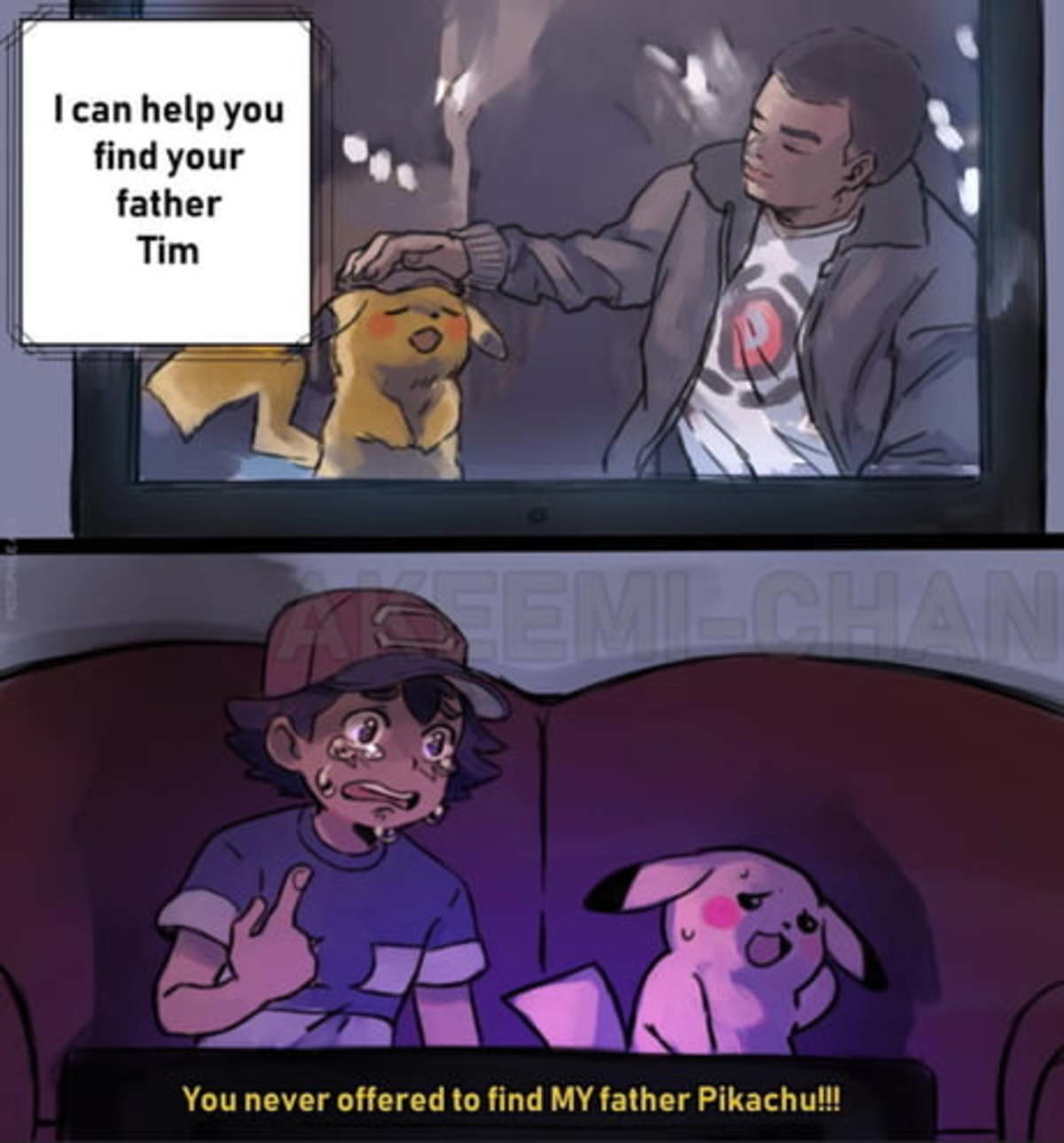 Ash's father is Arceus.. .. Ha! You don't have a dad!