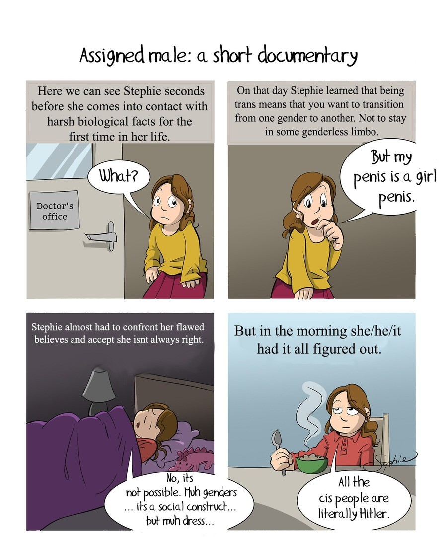 Assigned documentary. . Assigned male: a short Here we can see Stephie seconds On that day Stephie learned that being before she comes into contact with trans m
